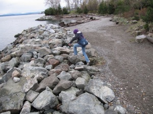 I have a great fondness for jumping on and/or climbing rocks.