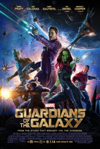 Guardians of the Galaxy Poster with all five main characters.